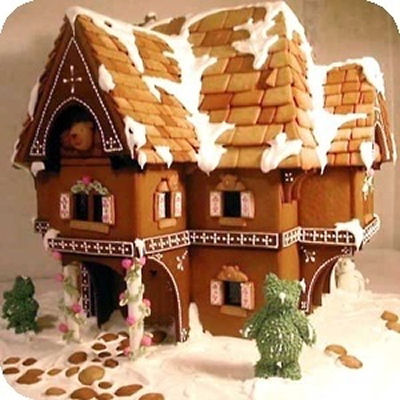 Dickens Village Style Gingerbread House