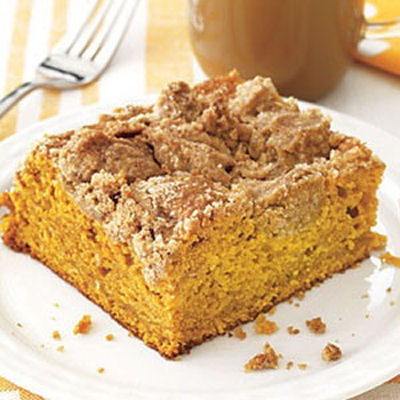 Pumpkin Crumb Coffee Cake Recipe.