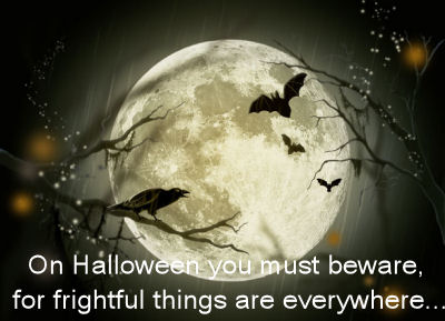Frightful Halloween quote