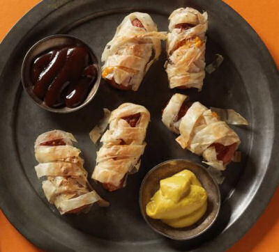 Phyllo Wrapped Hot Dog Mummies
