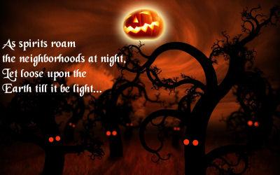 Spooky Halloween quote.