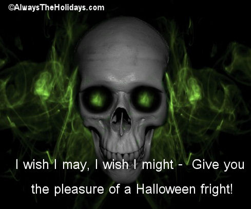 halloween fright quote - Scary Halloween Quotes And Sayings