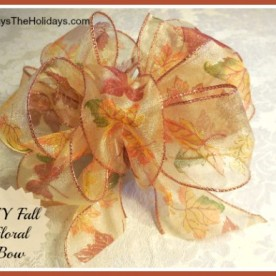 DIY Autumn Floral Bow