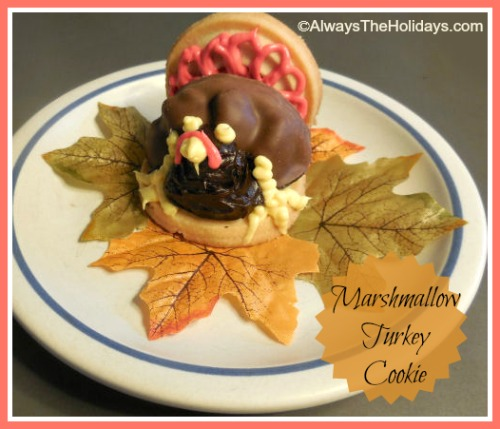 Marshmallow Turkey Cookie