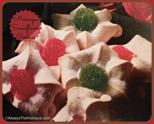 Meringue Snow Flower Cookies