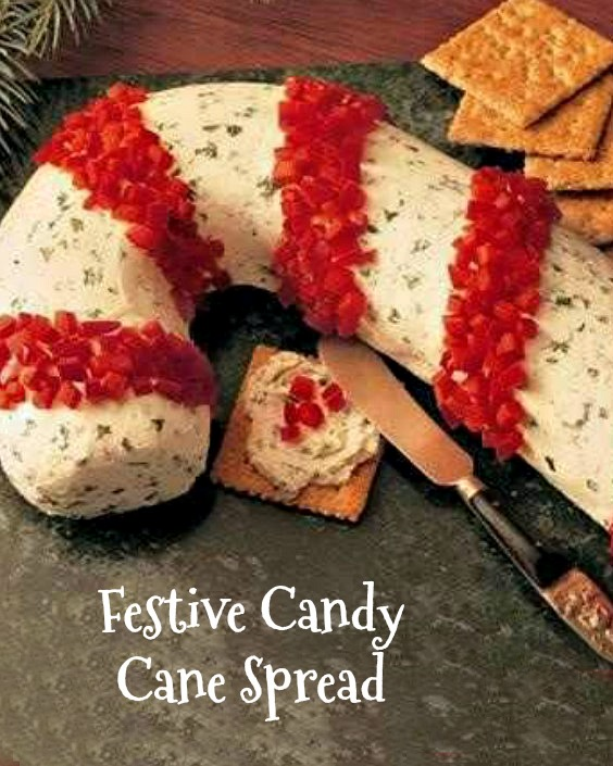 Festive candy cane spread