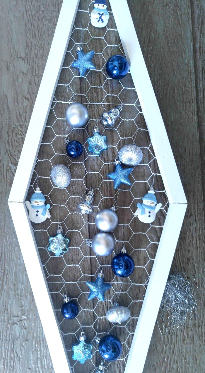 Attach the ornaments with ornament hangers