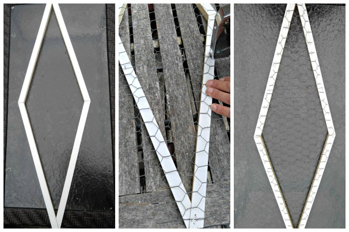 Attach the chicken wire with a staple gun