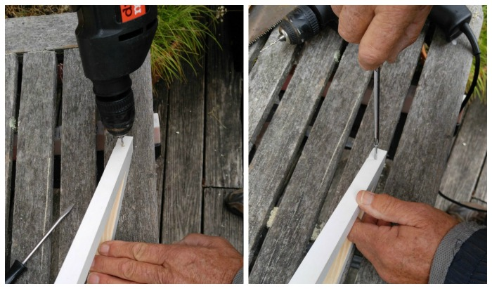 Drill and screw the joints together