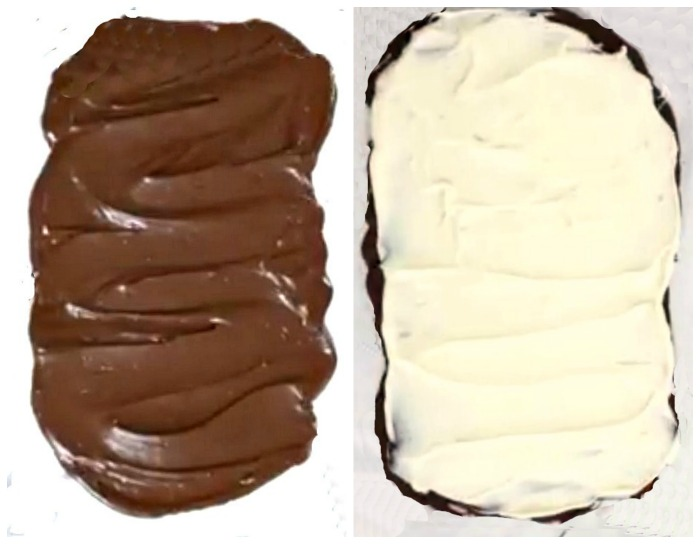 make two layers of chocolate in your pan