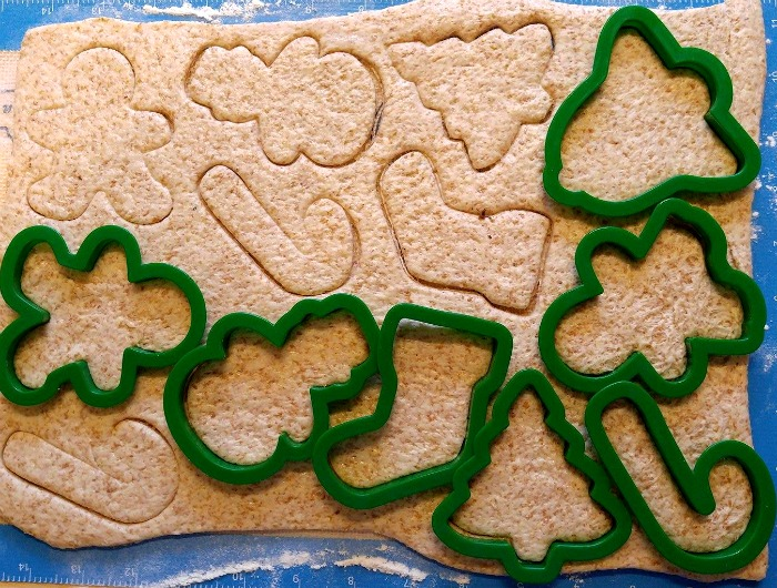 Cut your dough with cookie cutters.