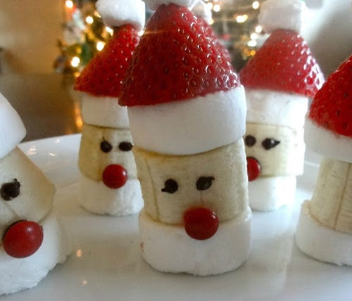 Banana Marshmallow Santa Heads