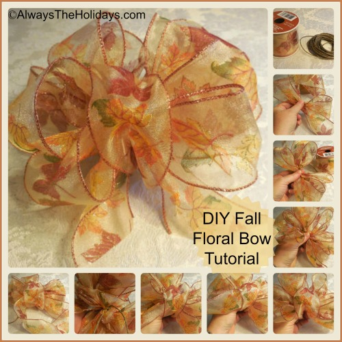 Autumn Floral Bow Tutorial