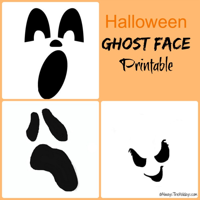Halloween ghost face printable
