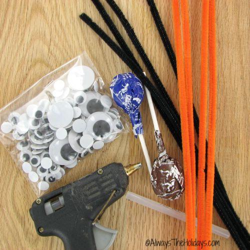 supplies for lollipop spider