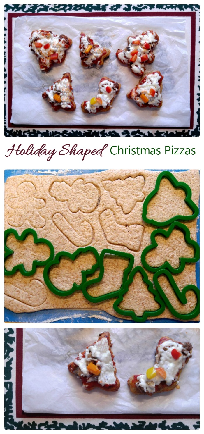 These Mini Christmas pizzas are so much fun to make and the kids will love them!