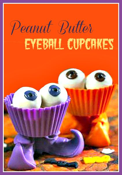 These peanut butter eyeballs are a super dessert to add to your Halloween party table.