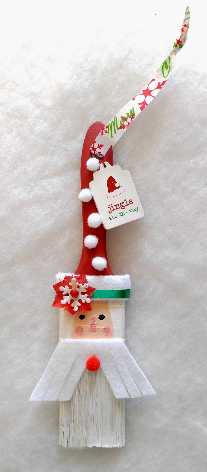 Santa Claus Paintbrush Ornament
