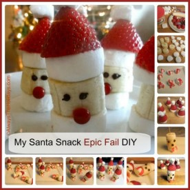 My Banana Marshmallow Santa hat EPIC FAIL DIY project.