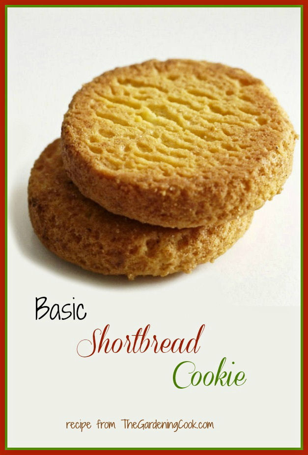 Shortbread cookie recipe made with brown sugar