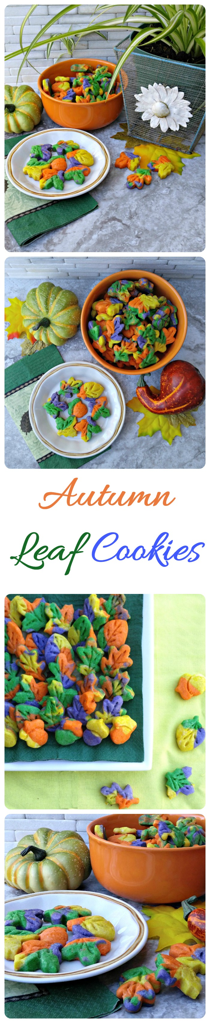 These Thanksgiving autumn leaf cookies will bring in the color of fall to your holiday table. They are easy to make and your holiday guests will love them!