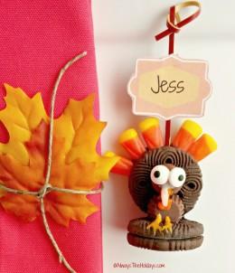 Oreo Turkey Cookie Place card Holder