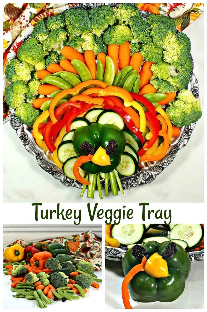 Serve this turkey Veggie Tray to get the kids to eat their vegetables