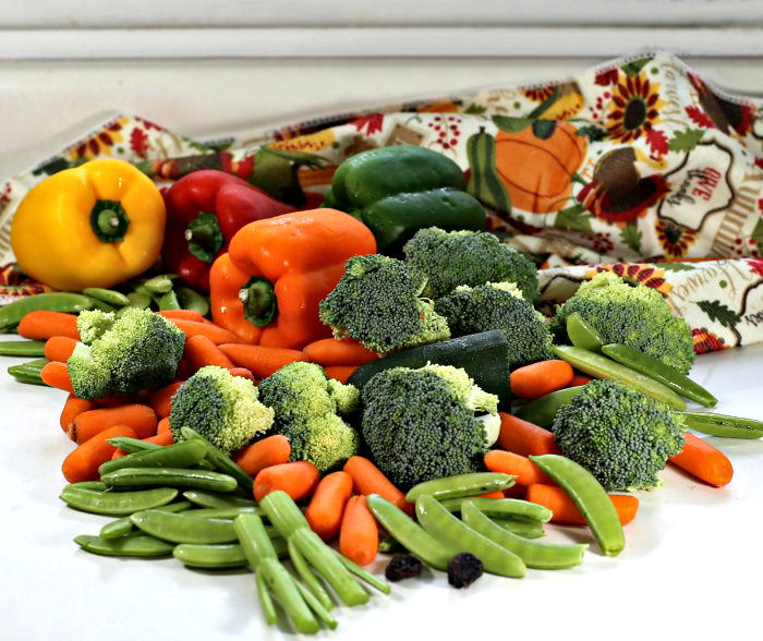 Vegetables for a turkey platter