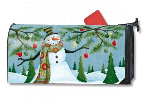 Snowman mailbox cover