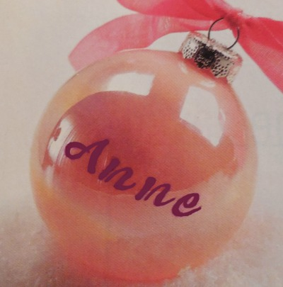 DIY handpainted personalized ornament.