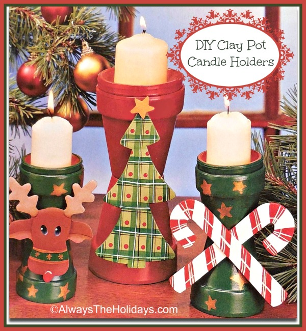 DIY Clay Pot Candle Holders