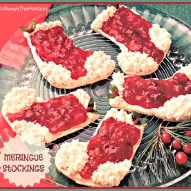 Meringue Christmas Stocking Cookies