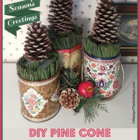 DIY Pine Cone Christmas Trees