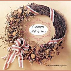 DIY Cinnamon Nut Wreath.