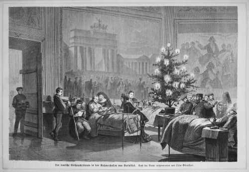 Early use of Christmas trees