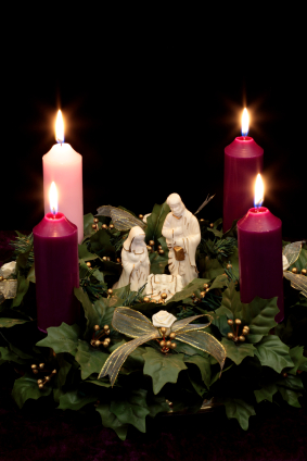Early Christian wreaths had four candles, three purple and one pink.
