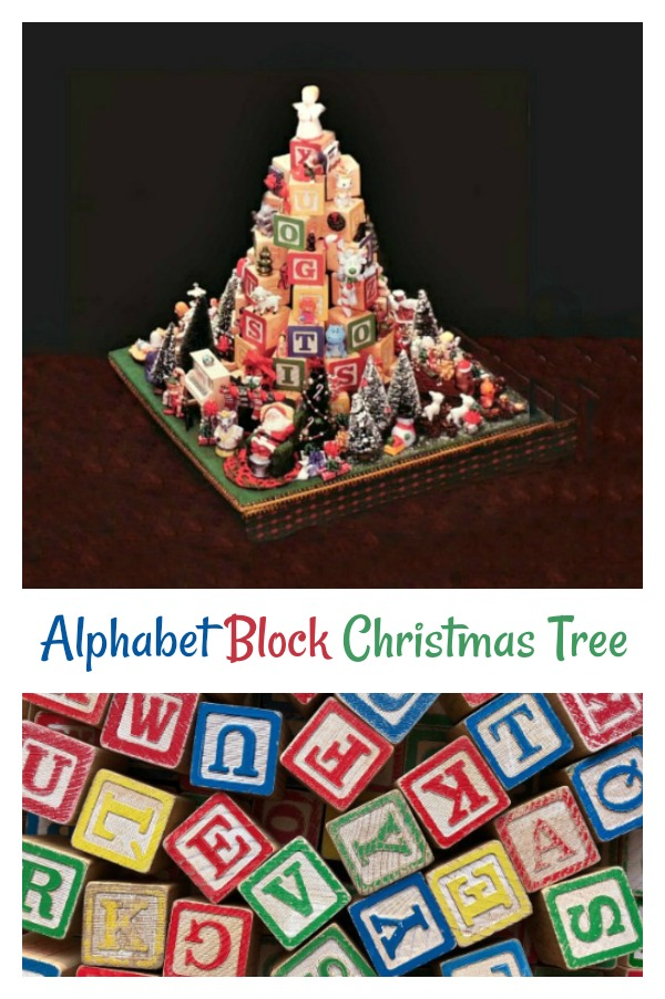 This alphabet block Christmas tree will bring the magic of Christmas into any child's room.