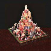 DIY alphabet block Christmas tree