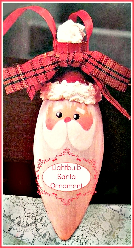 This adorable lightbulb Santa ornament is easy to make and will look great on your Christmas tree - alwaystheholidays.com