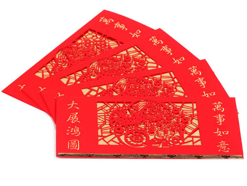 red paper envelope.
