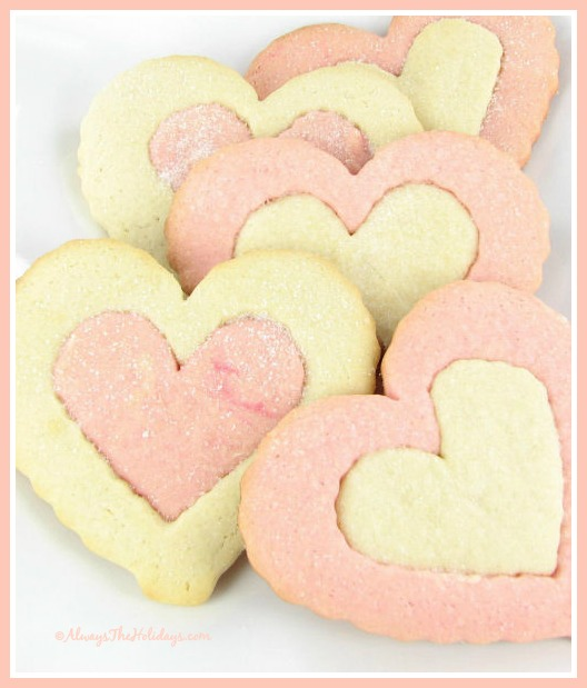 Heart Shaped Valentine's Day Cookies