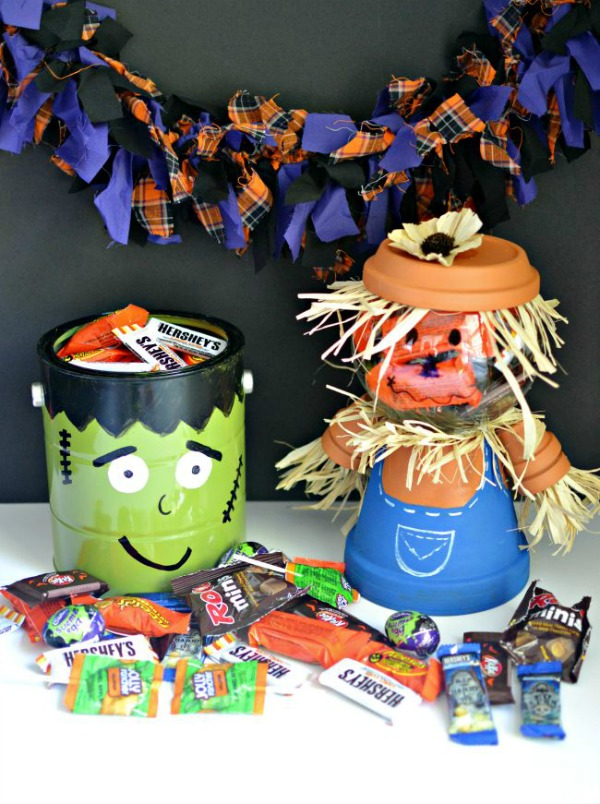 Frankenstein and Jack O Lantern DIY project from thisgirlslifeblog.com