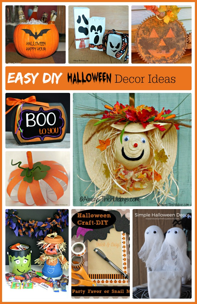 These  easy DIY Halloween decor ideas are quick to do and can be done on a budget too.