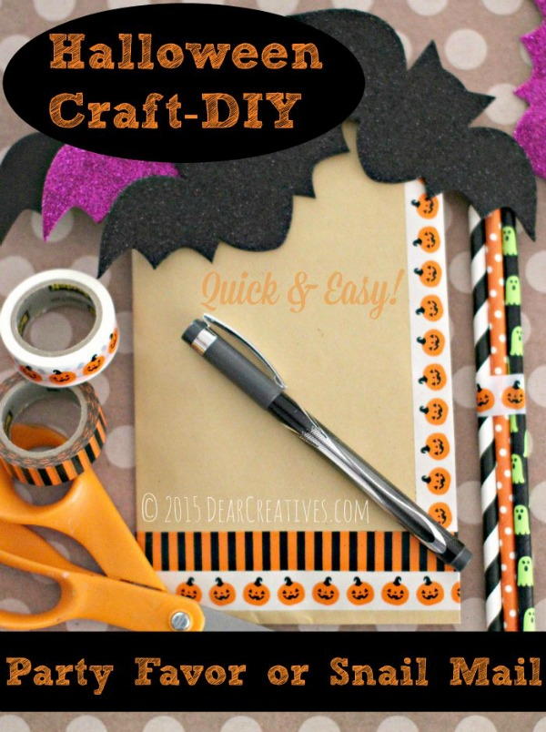 Halloween party bags from dearcreavites.com