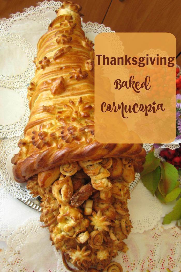 Bakes edible cornucopia.