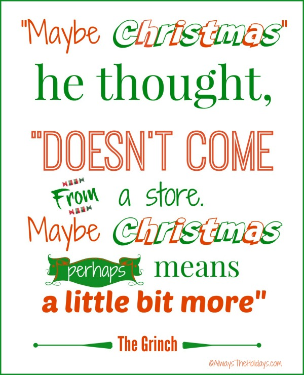Grinch poem - see more holiday graphics and fun alwaystheholidays.com/christmas-quotes-and-graphics