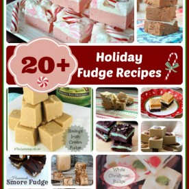 20+ holiday fudge recipes at thegardeningcook.com