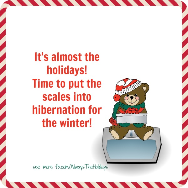It's almost the holidays. Time to put the scales into hibernation for the winter graphic.