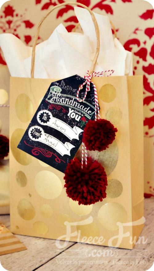 free Printable gift tags from fleecefun.com