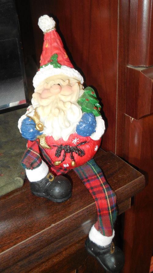Little Santa Claus elf on a shelf
